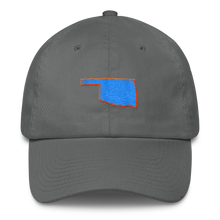 Oklahoma Outline Orange/Blue Cap