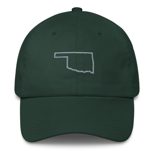 Oklahoma Gray Outline Cap