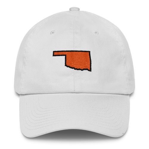 Oklahoma Outline Black/Orange Cap