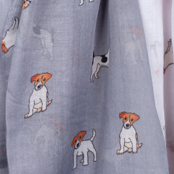 Jack Russell Print Scarf