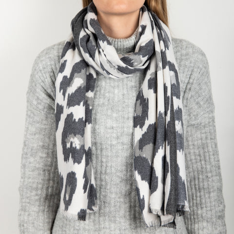 Cashmere Animal Print Scarf