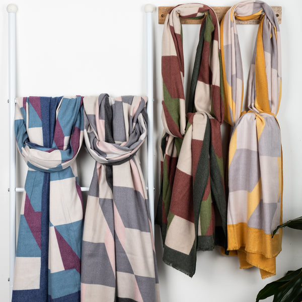 Sample Sale Seconds - Cashmere Geometric Scarf