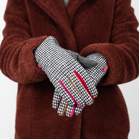 Houndstooth Gloves