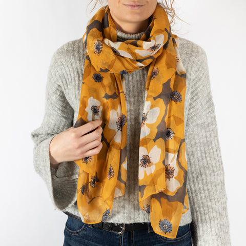 Winter Floral Scarf