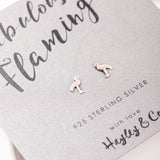 Fabulous Flamingo Sterling Silver Earrings