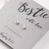 Bestie Silver Knot Sterling Silver Earrings