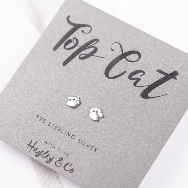 Top Cat Sterling Silver Earrings