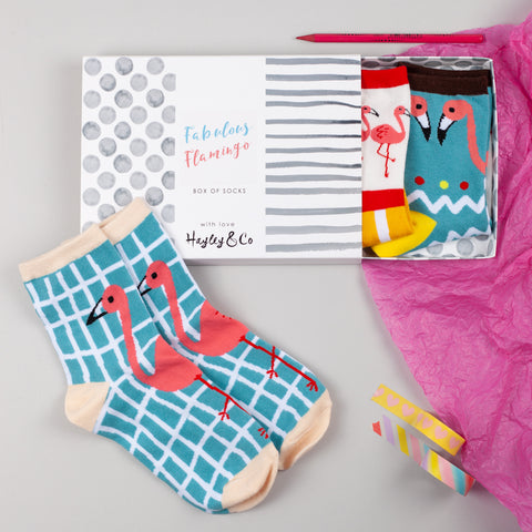 Fabulous Flamingo Box of Socks