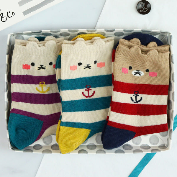 stripy cotton socks