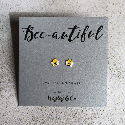 Little Bee Sterling Silver Earrings