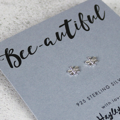 Bee autiful Sterling Silver Bee Earrings