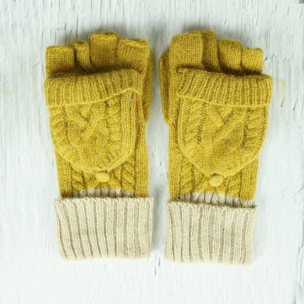 Colourful Cable Knit Gloves