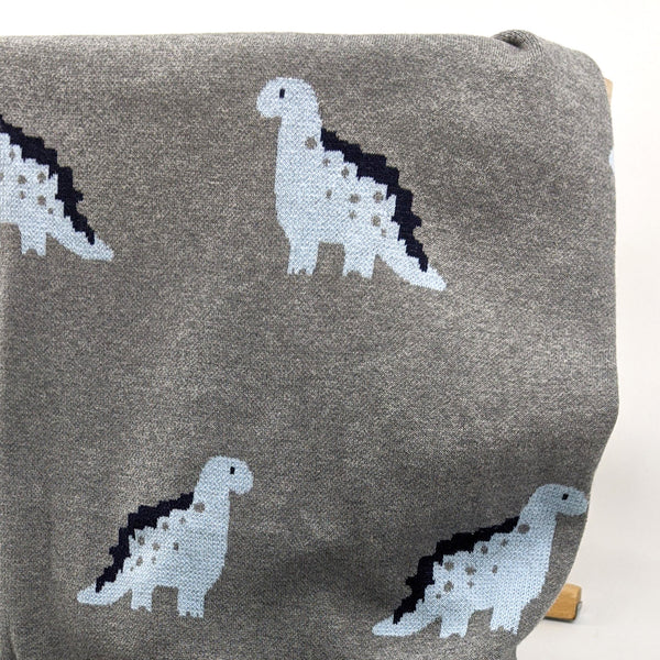 Dinosaur Knitted Cotton Baby Blanket