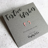 candycane earrings