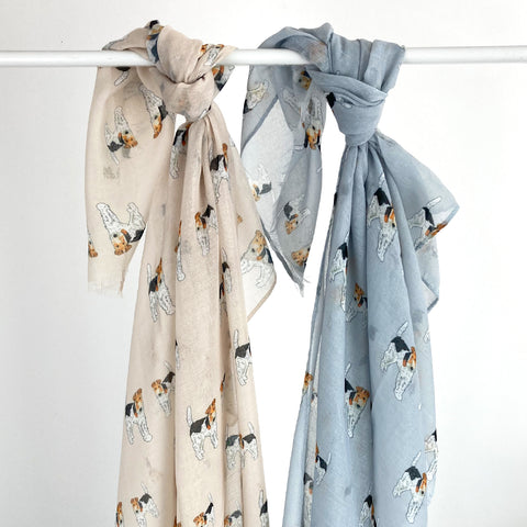 Fox Terrier Print Scarf