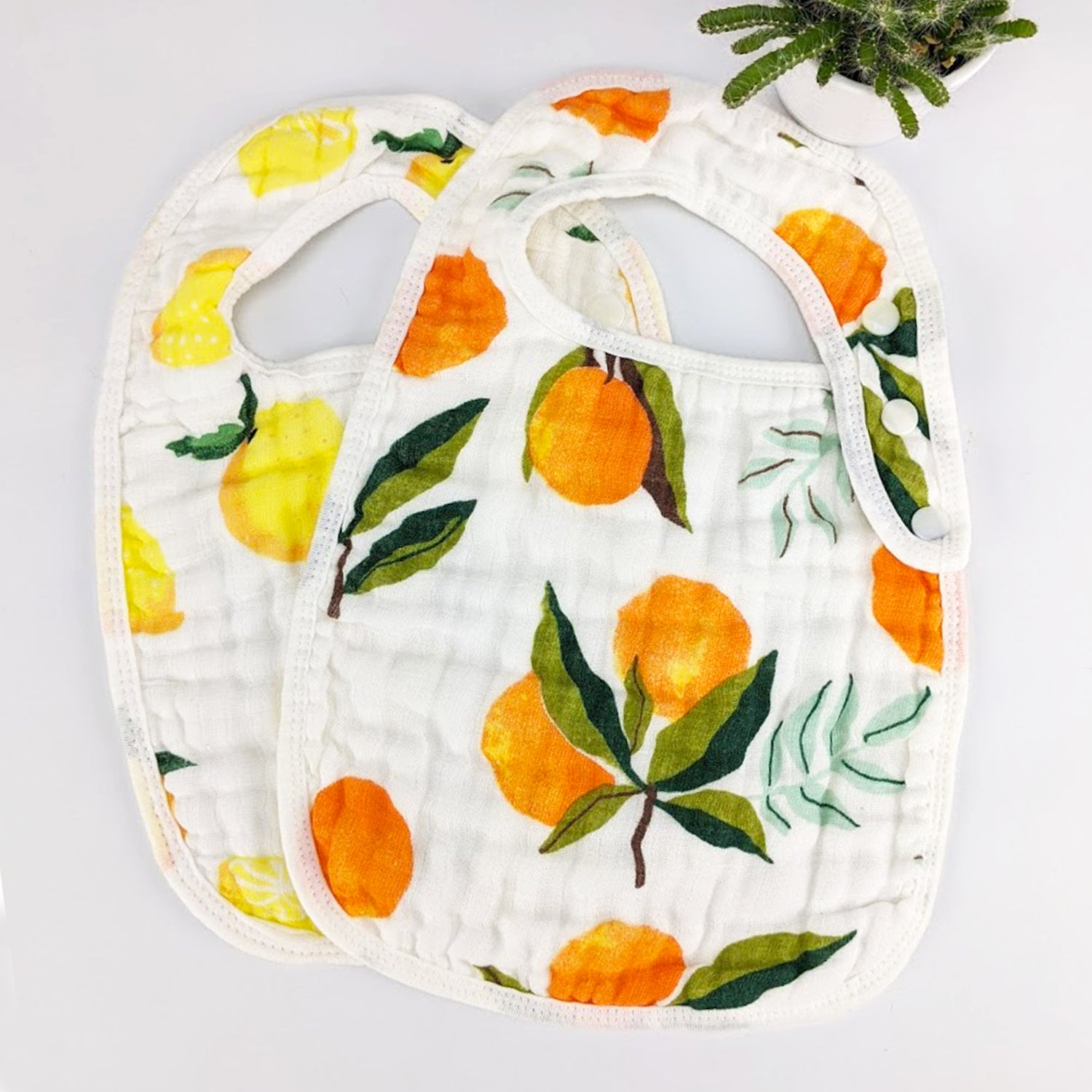 Fruity Baby Bibs - Two Pack