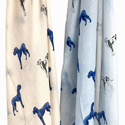 Great Dane and Dalmation Print Scarf
