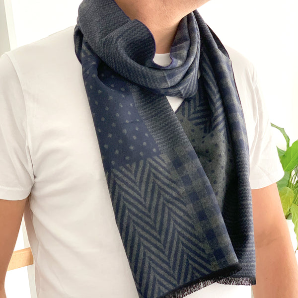 Herringbone Patterned Mens Scarf