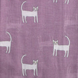 Happy Cats Print Scarf
