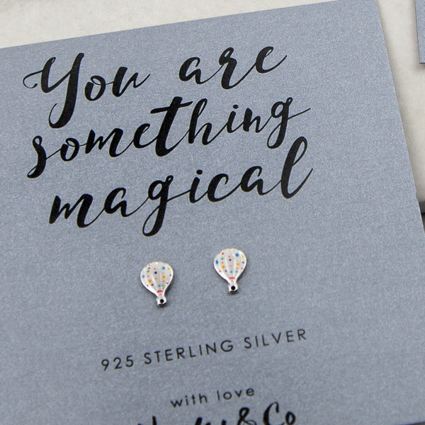 Hot Air Balloon Sterling Silver Earrings
