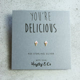 Ice Cream Sterling Silver Earrings