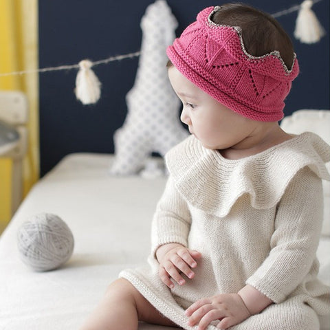 Knitted Crown Baby Hat