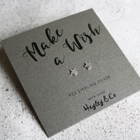Little Star Sterling Silver Earrings