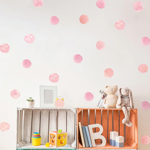 Watercolour Dot Wall Stickers