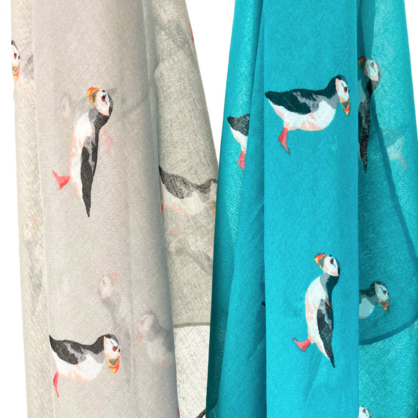 Puffin Print Scarf