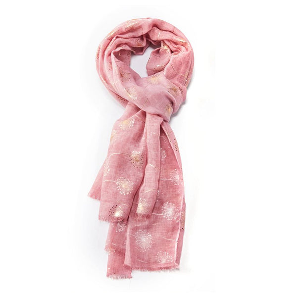 Rose Gold Flower Print Scarf