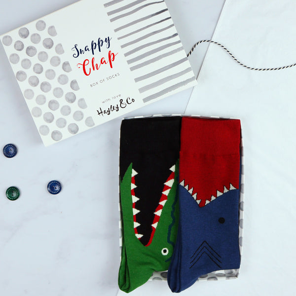Snappy Chap Shark and Crocodile Cotton Socks