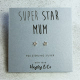 Super Star Mum Sterling Silver Earrings