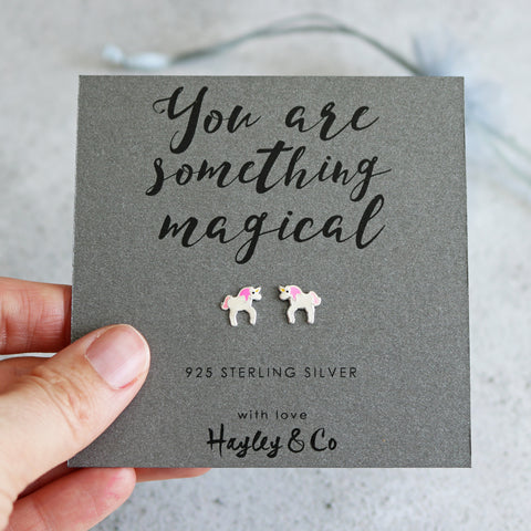 Magical Unicorn Sterling Silver Earrings