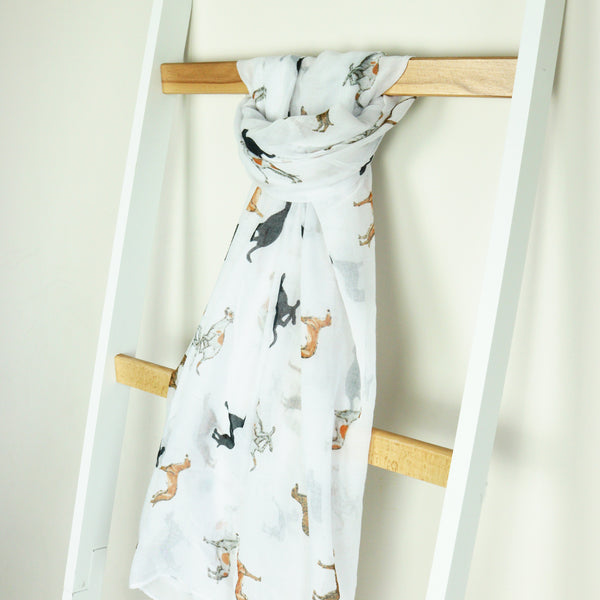 Whippet Print Scarf