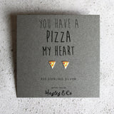 Pizza Sterling Silver Earrings