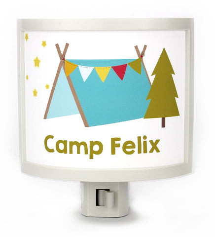 Camp Pines Personalized Night Light