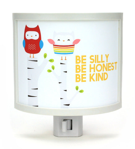 Be Silly Kind Honest Owl Night Light