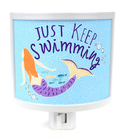 Keep Swimming Mermaid Night Light