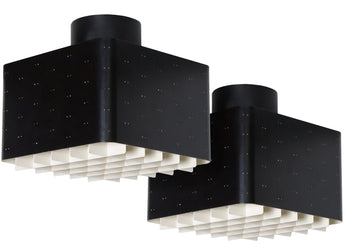 Paavo Tynell, Pair of Ceiling Lights, Model 9068, Idman Oy