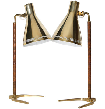 Pair of Paavo Tynell Desk Lamps, Model 9224
