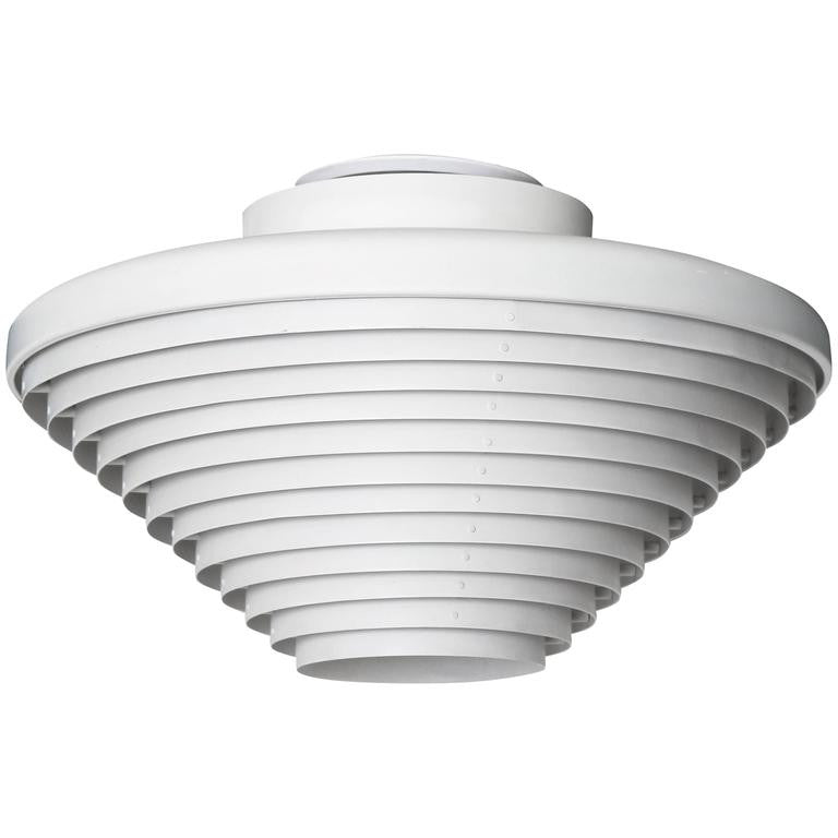 Early Alvar Aalto Ceiling Lamp, A605, Original Valaistustyö Production, 1950