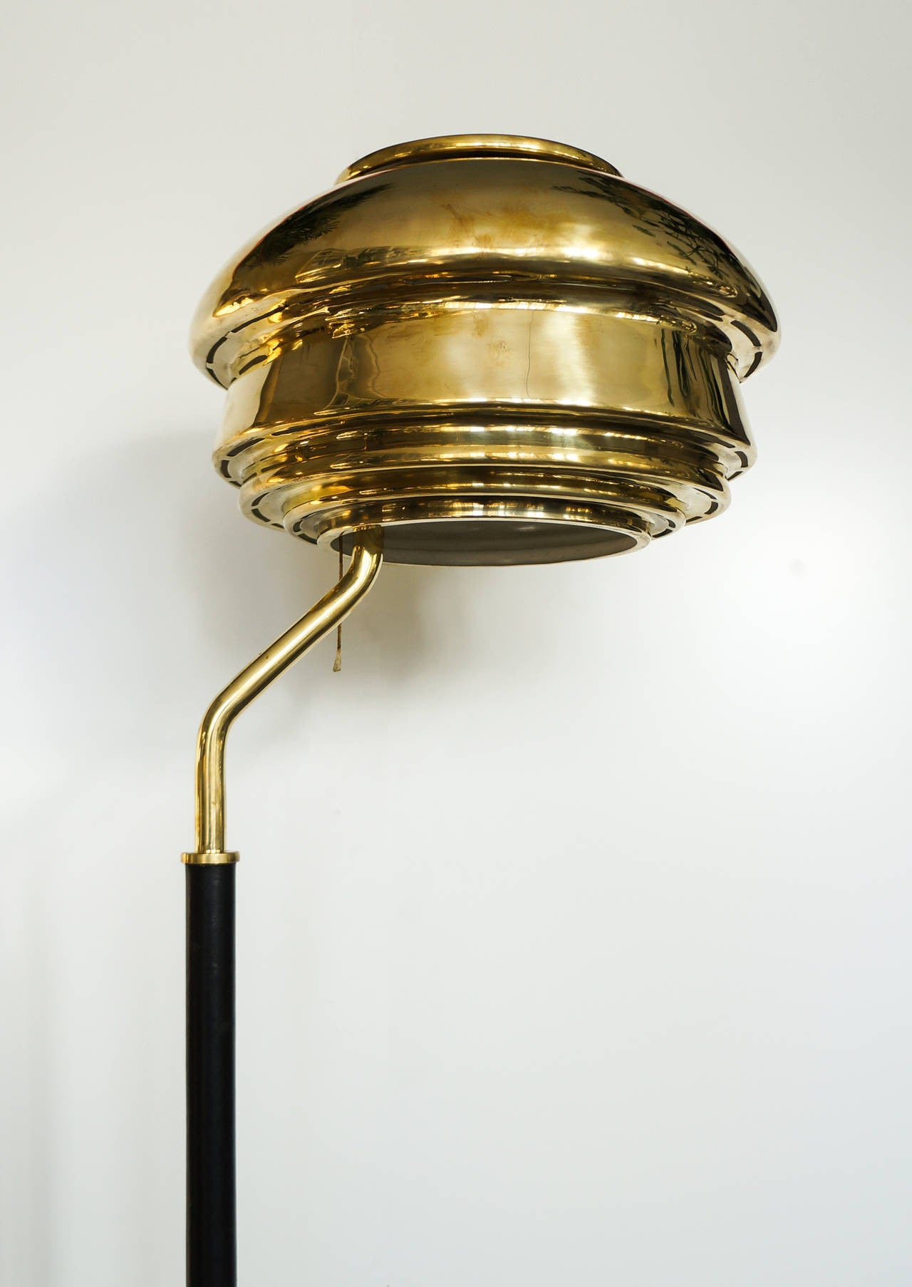 Early Alvar Aalto, Floor Lamp, Model A808, by Valaistustyö Ky, 1950s