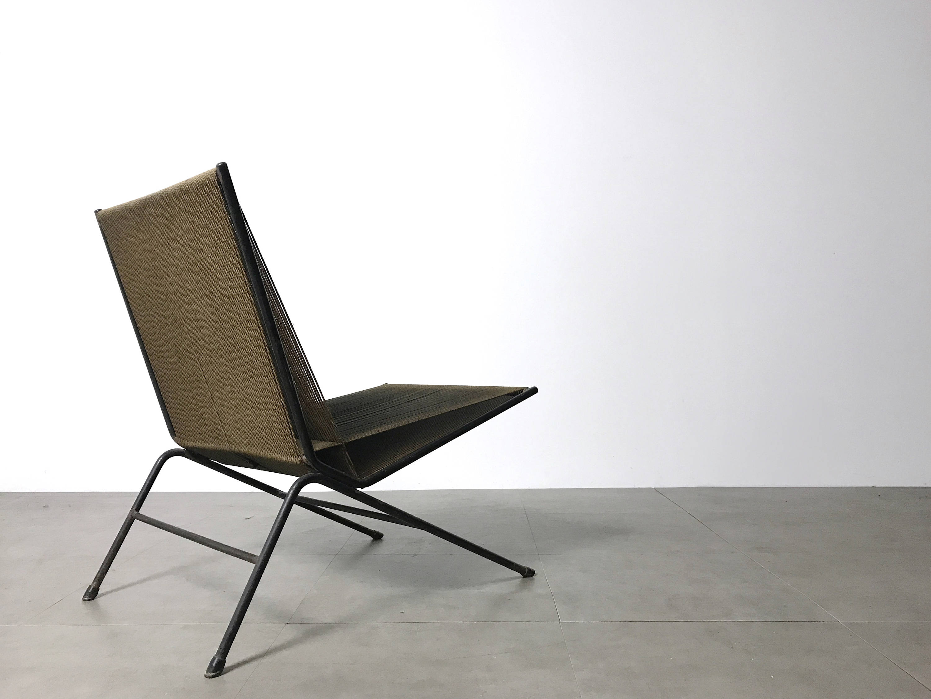 Allan Gould String Lounge Chair & Ottoman 1952 - The Exchange Int