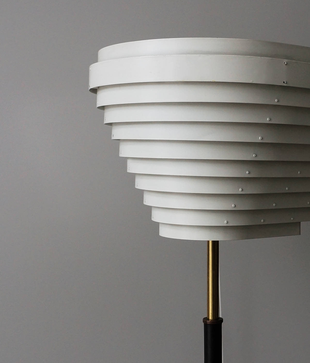 Early Alvar Aalto Floor Lamp, Model A805 for Valaistustyö Ky, 1954