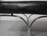 Erwine and Estelle Laverne Philharmonic Bench in Original Leather, 1961 - The Exchange Int