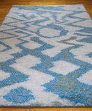 "Large 115"" Swedish Knotted Rya Carpet, 1950s - The Exchange Int"