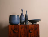 Carl-Harry Stålhane, Blue Collection of Four Vessels, Rörstrand Ab, Sweden, c.1950s - The Exchange Int