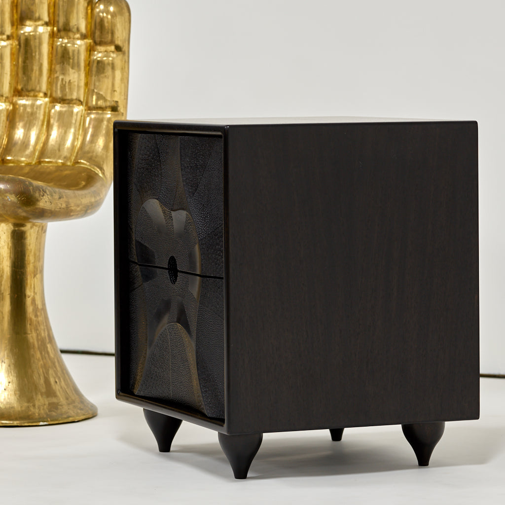 "Caleb Woodard ""ARABESQUE II"" Cabinet From Quartersawn Mahogany - The Exchange Int"
