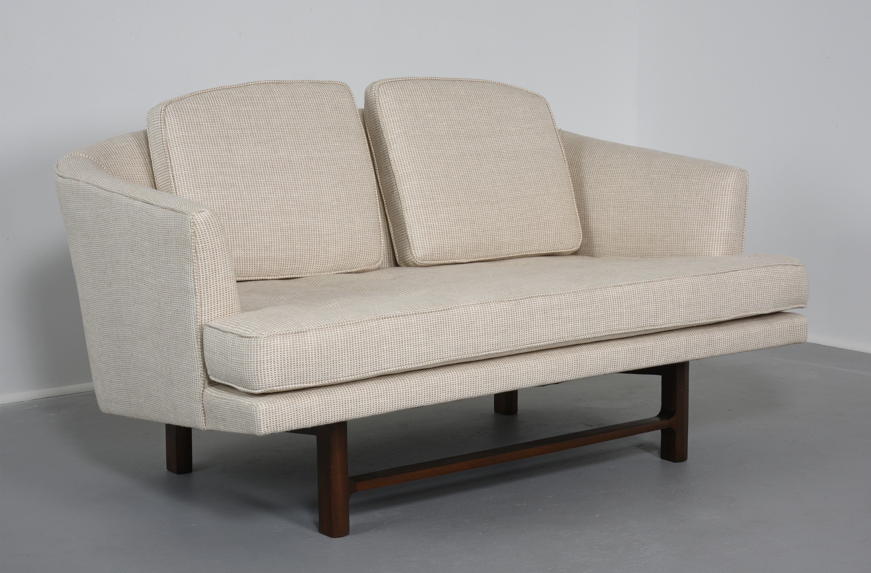 Edward Wormley for Dunbar Settee with Mahogany Base, 1956 - The Exchange Int