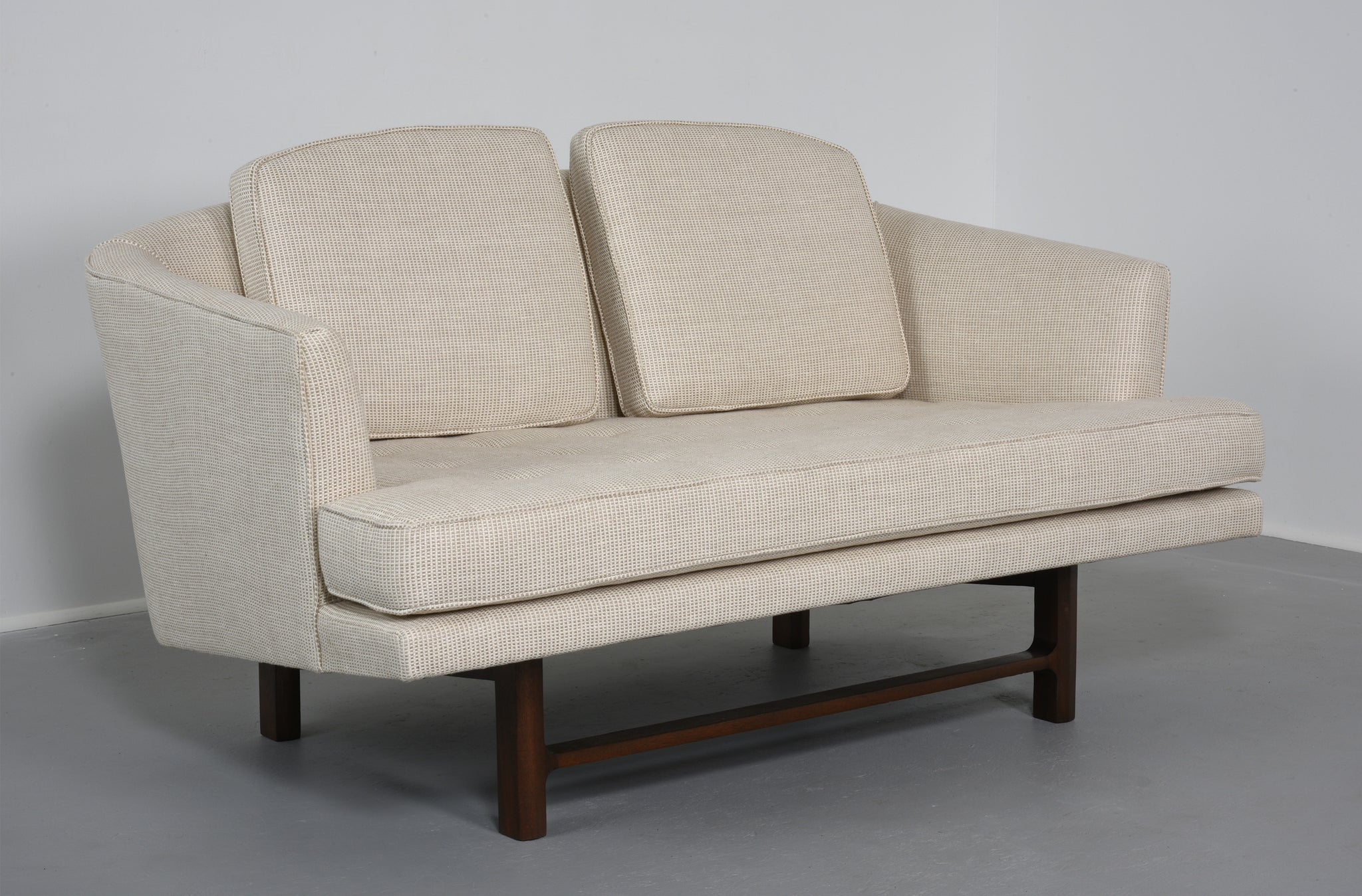 Edward Wormley for Dunbar Settee with Mahogany Base